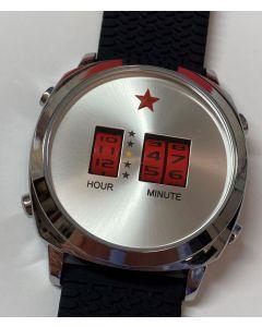 Red Star Drum Roller Watch 44mm Quarz