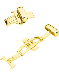 9025G Butterfly Folding Clasp gold plated
