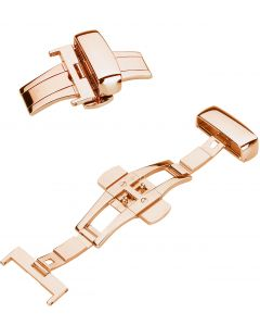 9025RG Butterfly Folding Clasp redgold plated