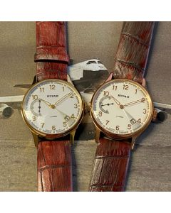 Buran caliber 3105 - gold plated & redgold plated