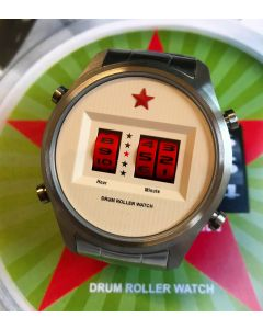 Red Star Drum Roller Watch 44mm Quarz Sommer Sonderpreis