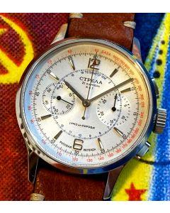 Strela Chronograph Officer 40mm Saphir