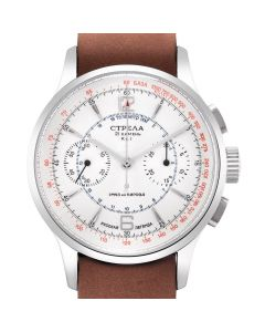 Strela Chronograph Officer 40mm Saphir & Glasboden