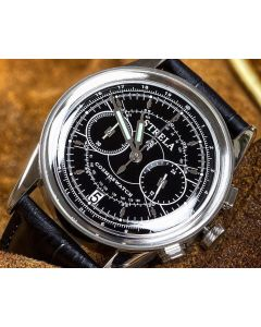 Strela Chronograph Quarz Schwarz