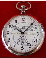 """1001LV  MOLNIJA """"Leonardo da Vinci"""" Pocketwatch"""