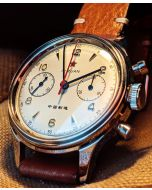 Seagull 1963 38mm  Acryl glass,leather & Natostraps