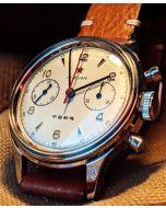 Seagull 1963 38mm Acrylglas, Leder und Natobänder
