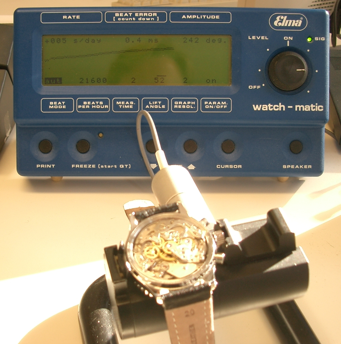 Meine Zeitwaage Elma watch-matic